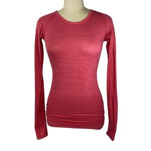 Lululemon Pink Long Sleeve Swiftly Tech Top Size 4